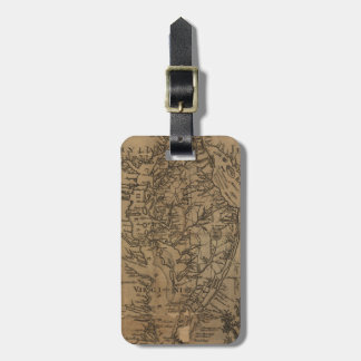 Vintage Map of The Chesapeake Bay (1778) Luggage Tag