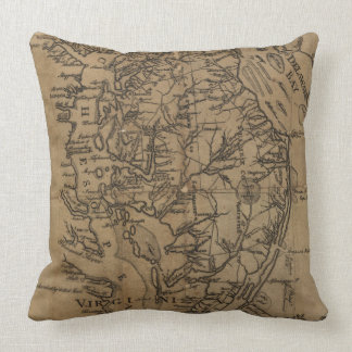 Vintage Map of The Chesapeake Bay (1778) Pillow