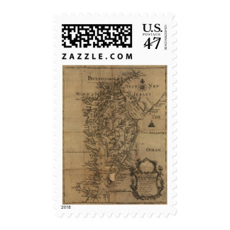 Vintage Map of The Chesapeake Bay (1778) Postage