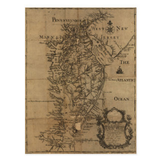 Vintage Map of The Chesapeake Bay (1778) Postcard
