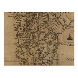 Vintage Map of The Chesapeake Bay (1778) Post Cards