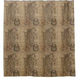 Vintage Map of The Chesapeake Bay (1778) Shower Curtain