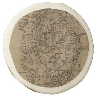 Vintage Map of The Chesapeake Bay (1778) Sugar Cookie