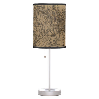 Vintage Map of The Chesapeake Bay (1778) Table Lamp