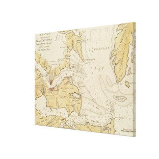 Vintage Map of The Chesapeake Bay (1781) Canvas Print