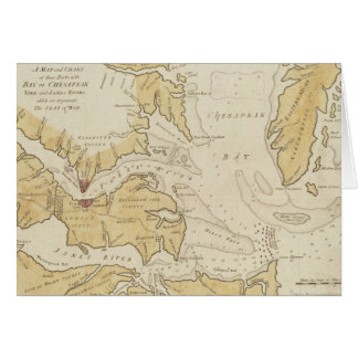 Vintage Map of The Chesapeake Bay (1781) Card
