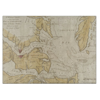 Vintage Map of The Chesapeake Bay (1781) Cutting Board