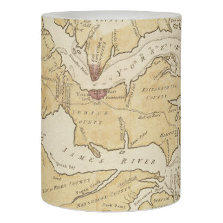 Vintage Map of The Chesapeake Bay (1781) Flameless Candle