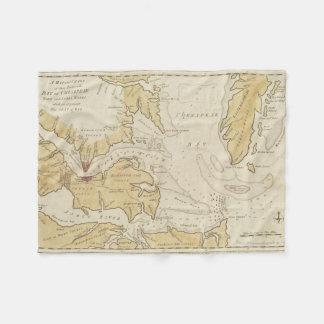 Vintage Map of The Chesapeake Bay (1781) Fleece Blanket