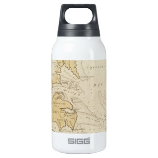 Vintage Map of The Chesapeake Bay (1781) Insulated Water Bottle
