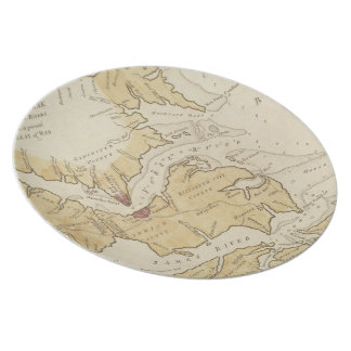 Vintage Map of The Chesapeake Bay (1781) Melamine Plate