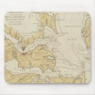 Vintage Map of The Chesapeake Bay (1781) Mouse Pad