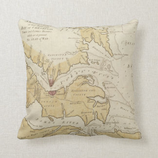 Vintage Map of The Chesapeake Bay (1781) Pillow