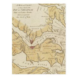 Vintage Map of The Chesapeake Bay (1781) Postcard