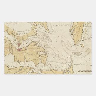 Vintage Map of The Chesapeake Bay (1781) Rectangular Sticker