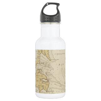 Vintage Map of The Chesapeake Bay (1781) Water Bottle