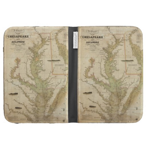 Vintage Map of The Chesapeake Bay (1840) Kindle 3 Cover