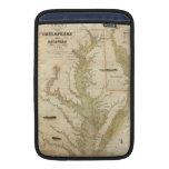 Vintage Map of The Chesapeake Bay (1840) MacBook Sleeves