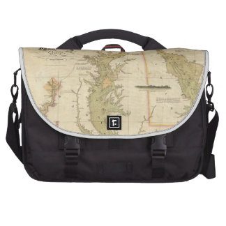 Vintage Map of The Chesapeake Bay (1840) Commuter Bags