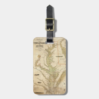 Vintage Map of The Chesapeake Bay (1840) Travel Bag Tag
