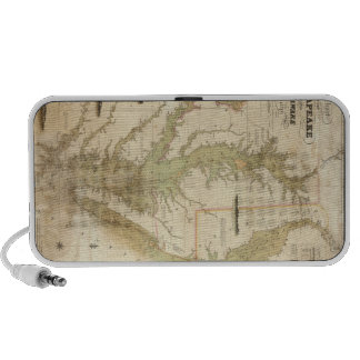 Vintage Map of The Chesapeake Bay (1840) Portable Speaker