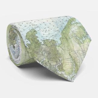 Vintage Map of The Chesapeake Bay (1857) Tie