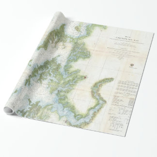 Vintage Map of The Chesapeake Bay (1857) Wrapping Paper