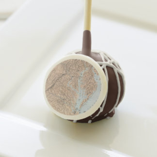 Vintage Map of The Chesapeake Bay (1861) Cake Pops