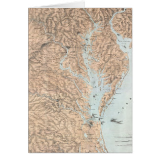 Vintage Map of The Chesapeake Bay (1861) Card