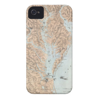 Vintage Map of The Chesapeake Bay (1861) iPhone 4 Covers