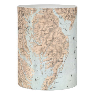 Vintage Map of The Chesapeake Bay (1861) Flameless Candle