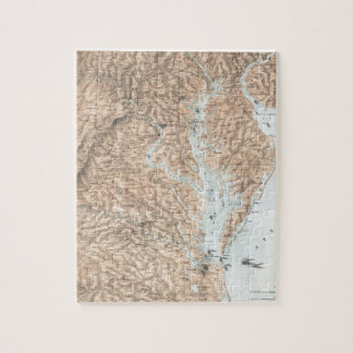 Vintage Map of The Chesapeake Bay (1861) Jigsaw Puzzle