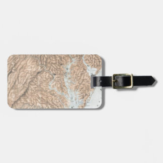 Vintage Map of The Chesapeake Bay (1861) Luggage Tag