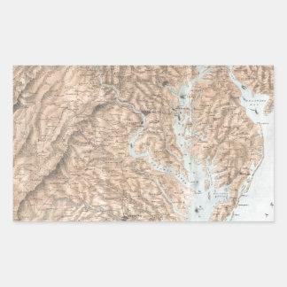 Vintage Map of The Chesapeake Bay (1861) Rectangular Sticker
