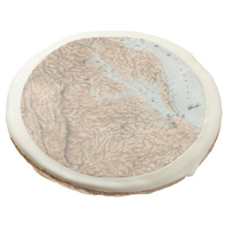 Vintage Map of The Chesapeake Bay (1861) Sugar Cookie