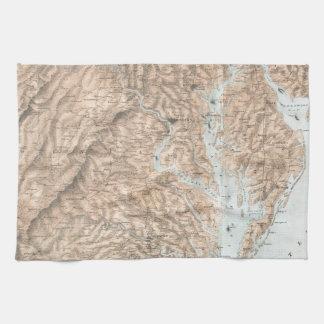 Vintage Map of The Chesapeake Bay (1861) Towel
