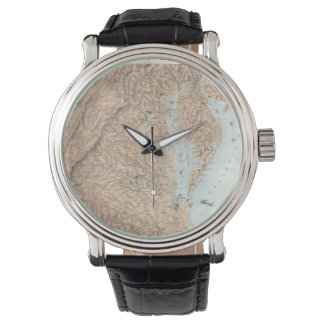 Vintage Map of The Chesapeake Bay (1861) Wristwatch