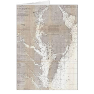 Vintage Map of the Chesapeake Bay (1866) Card
