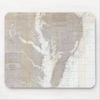 Vintage Map of the Chesapeake Bay (1866) Mouse Pad
