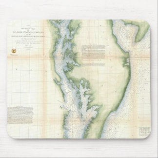Vintage Map of the Chesapeake Bay Mouse Pad