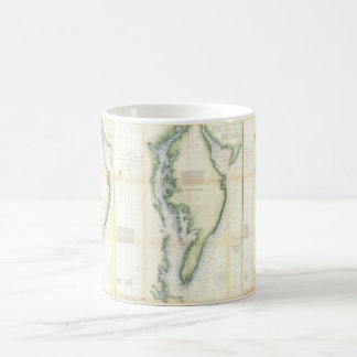 Vintage Map of the Chesapeake Bay Coffee Mugs