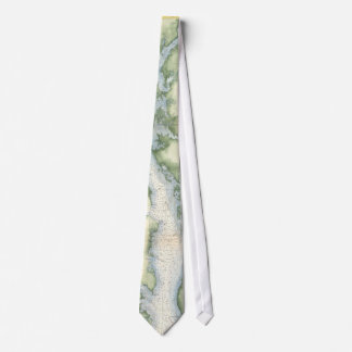 Vintage Map of the Chesapeake Bay Neck Tie