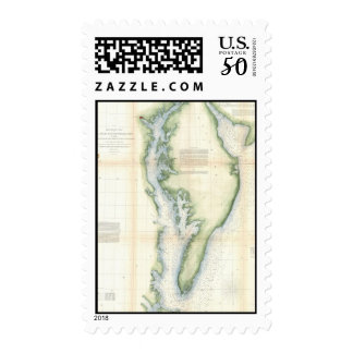 Vintage Map of The Chesapeake Bay Postage
