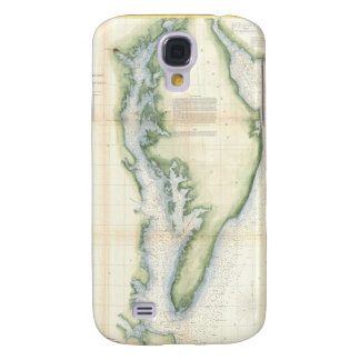 Vintage Map of the Chesapeake Bay Samsung Galaxy S4 Case