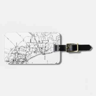 Vintage Map of The Chicago Railroad Network (1913) Bag Tag