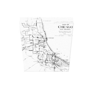 Vintage Map of The Chicago Railroad Network (1913) Canvas Print