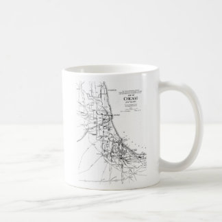 Vintage Map of The Chicago Railroad Network (1913) Coffee Mug