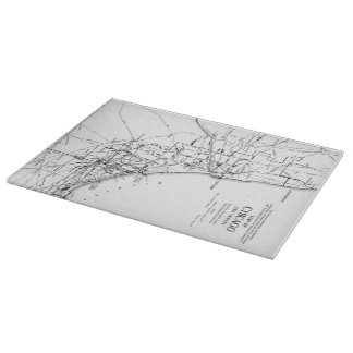 Vintage Map of The Chicago Railroad Network (1913) Cutting Board