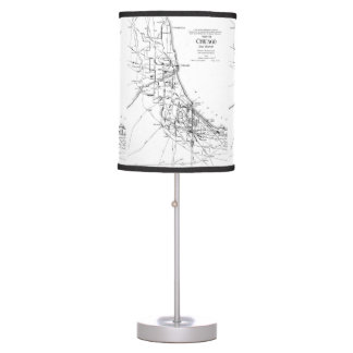 Vintage Map of The Chicago Railroad Network (1913) Desk Lamp