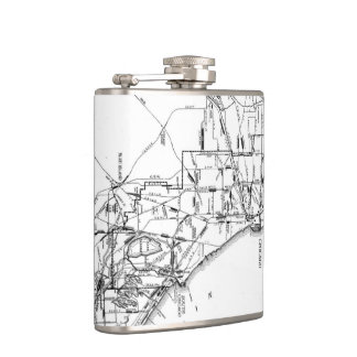 Vintage Map of The Chicago Railroad Network (1913) Hip Flask
